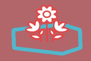 Fleurs et effets personnels avec cercueil en avion